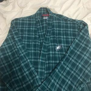Philadelphia Eagles Long Flannel Bathrobe Medium